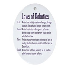 Asimov Laws of Robotics  Oval Ornament
