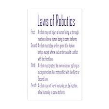 Asimov Laws of Robotics Rectangle Decal