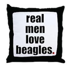Real Men - Beagles  Throw Pillow