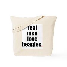 Real Men - Beagles  Tote Bag