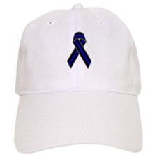 Blue Line Ribbon Baseball Baseball Cap