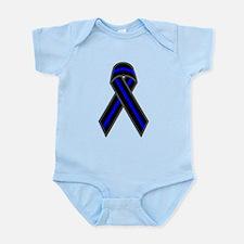 Blue Line Ribbon Infant Bodysuit