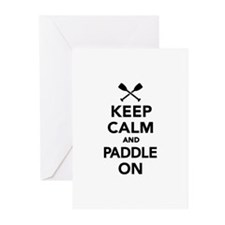 Keep calm and Paddle on Greeting Cards (Pk of 10)