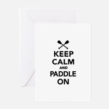 Keep calm and Paddle on Greeting Cards (Pk of 20)