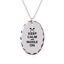 Keep calm and Paddle on Necklace