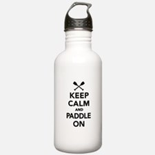 Keep calm and Paddle o Water Bottle