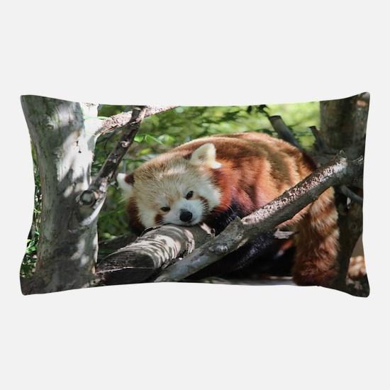 Sleepy Red Panda Pillow Case