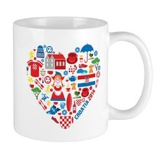 Croatia World Cup 2014 Heart Mug