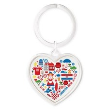 Croatia World Cup 2014 Heart Heart Keychain