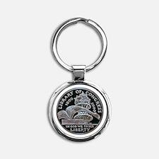 Library of Congress Dollar Round Keychain