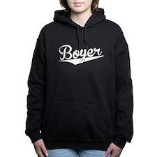 Boyer, Retro, Women's Hooded Sweatshirt