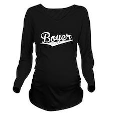 Boyer, Retro, Long Sleeve Maternity T-Shirt