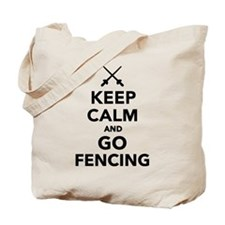 Keep calm and go Fencing Tote Bag