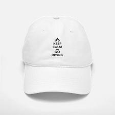 Keep calm and go Diving Baseball Baseball Cap