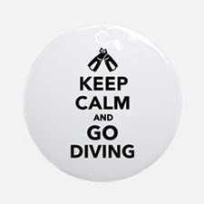 Keep calm and go Diving Ornament (Round)