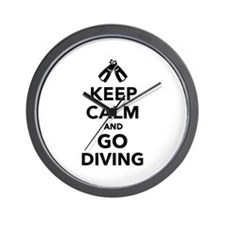 Keep calm and go Diving Wall Clock