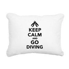 Keep calm and go Diving Rectangular Canvas Pillow