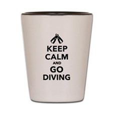 Keep calm and go Diving Shot Glass