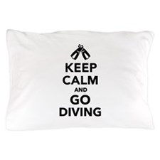 Keep calm and go Diving Pillow Case