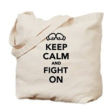 Keep calm and fight on Boxing Tote Bag