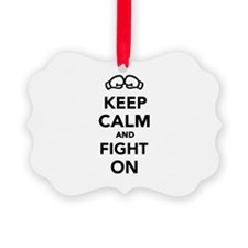 Keep calm and fight on Boxing Ornament