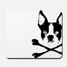 Boston Terrier Crossbones Mousepad