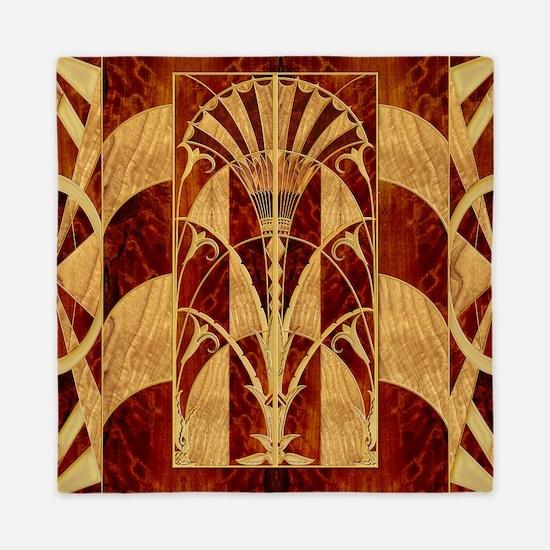 Harvest Moons Art Deco Panel Queen Duvet