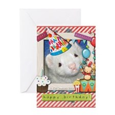 Ollie the ferret Birthday Card Greeting Card