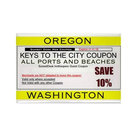 Oregon Washington Coupon Magnet (10 pack)