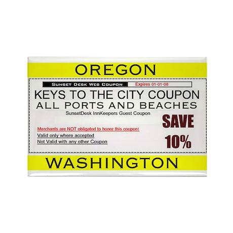 Oregon Washington Coupon Magnet Rectangle