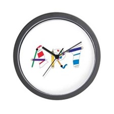 Art Supply Wall Clock
