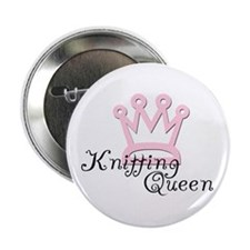 Knitting Queen Button