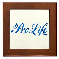 Pro-Life (blue) Framed Tile