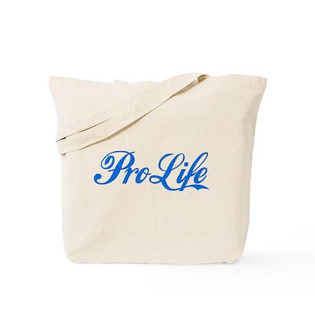 Pro-Life (blue) Tote Bag