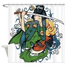 fierce warrior Shower Curtain