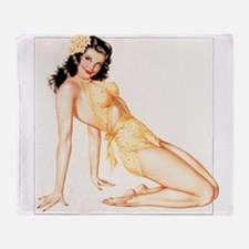 Sexy Pin Up Throw Blanket