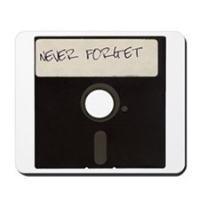 Never Forget Computer Floppy Disks Mousepad