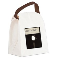 Never Forget Computer Floppy Disks Canvas Lunch Ba