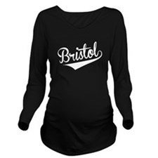 Bristol, Retro, Long Sleeve Maternity T-Shirt