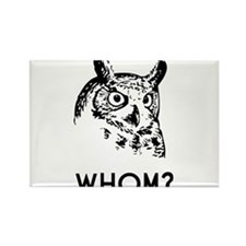 Hoo Who Whom Grammar Owl Magnets