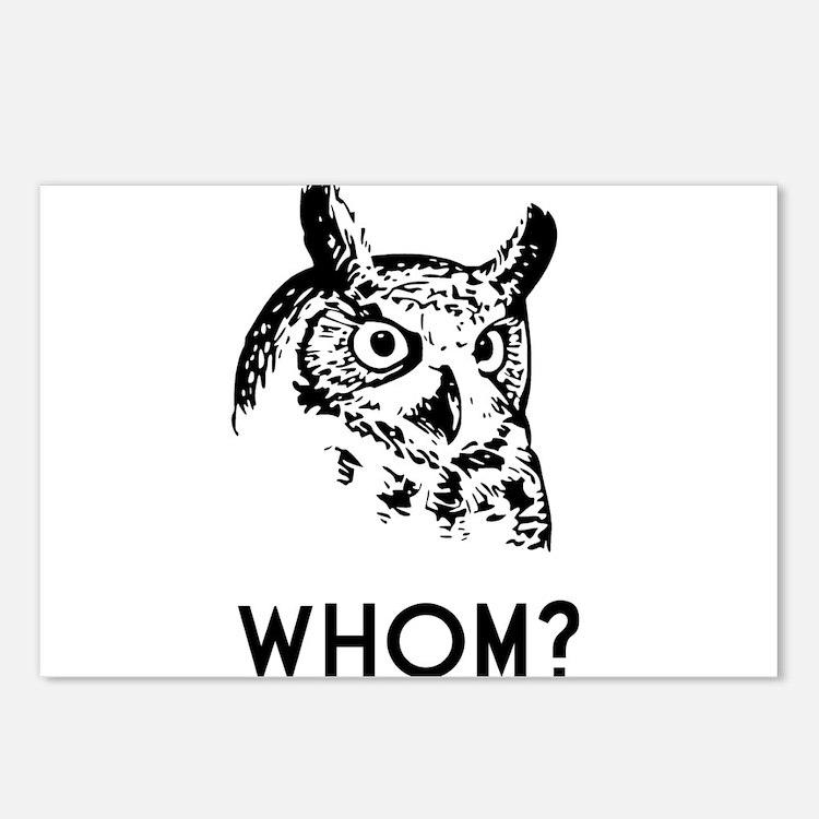 Hoo Who Whom Grammar Owl Postcards (Package of 8)