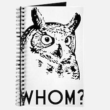 Hoo Who Whom Grammar Owl Journal