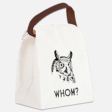 Hoo Who Whom Grammar Owl Canvas Lunch Bag