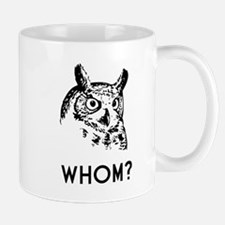 Hoo Who Whom Grammar Owl Mugs