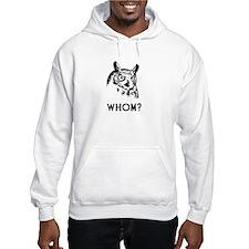 Hoo Who Whom Grammar Owl Hoodie