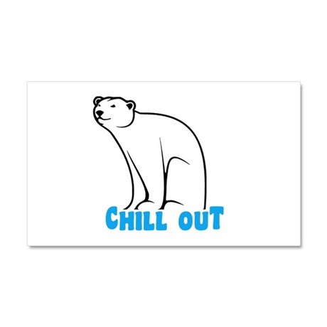 Chill Out Polar Bear Car Magnet 20 x 12