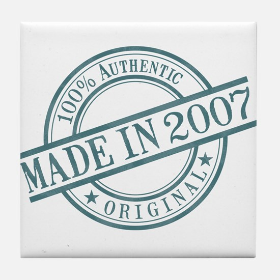 Made in 2007 Tile Coaster