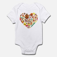 Cameroon World Cup 2014 Heart Infant Bodysuit