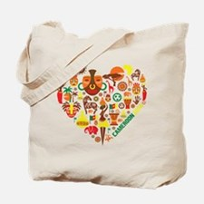 Cameroon World Cup 2014 Heart Tote Bag