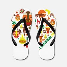Cameroon World Cup 2014 Heart Flip Flops